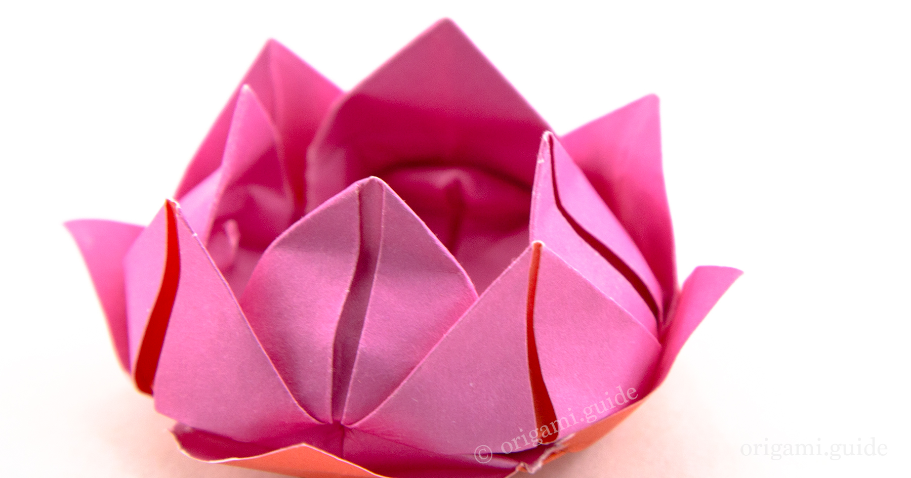 How To Make An Origami Lotus Flower | Origami Guide - photo#26