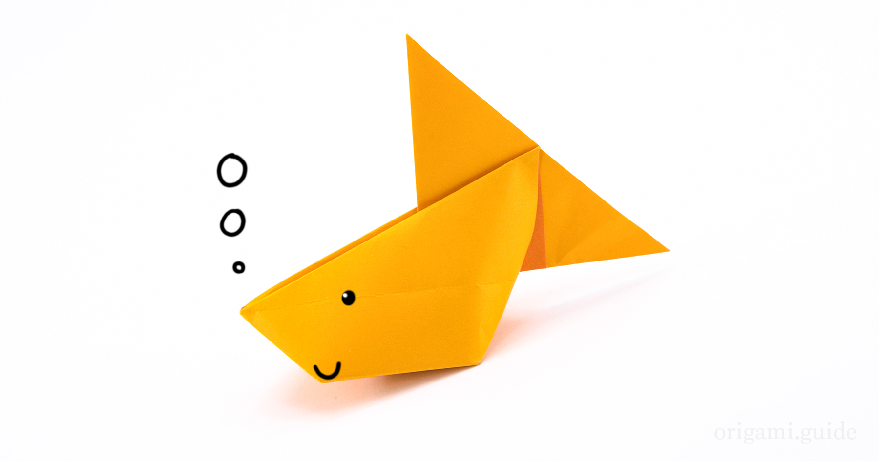 How To Make An Inflatable Origami Fish | Origami Guide ... - photo#11